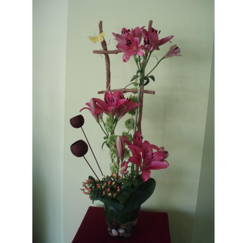 סידור פרחים סולם
