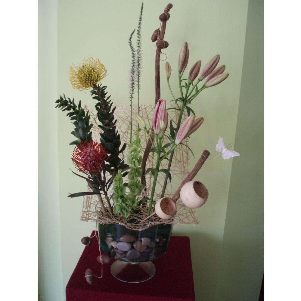 סידור פרחים נחל