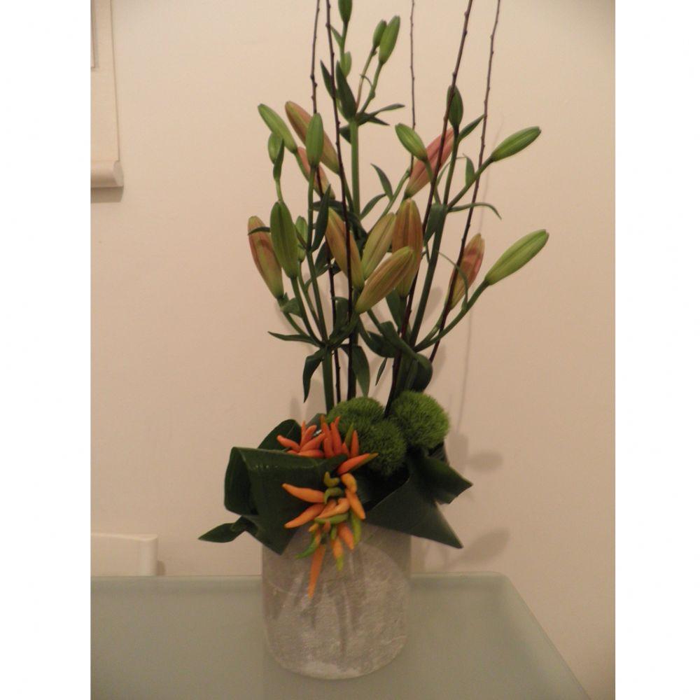 סידור פרחים פלפל